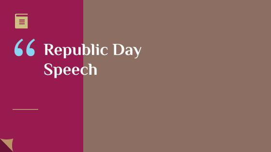 Republic day speech