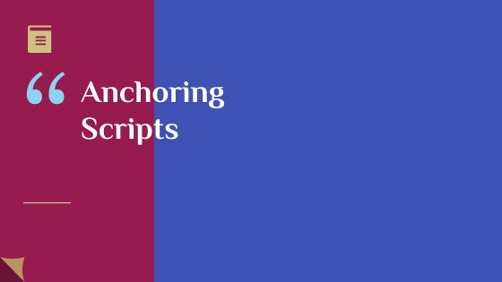Anchoring script for the annual function